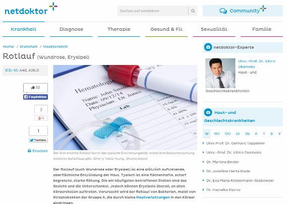 Netdoktor Experte Hautarzt Dr. Okamoto aus Wien