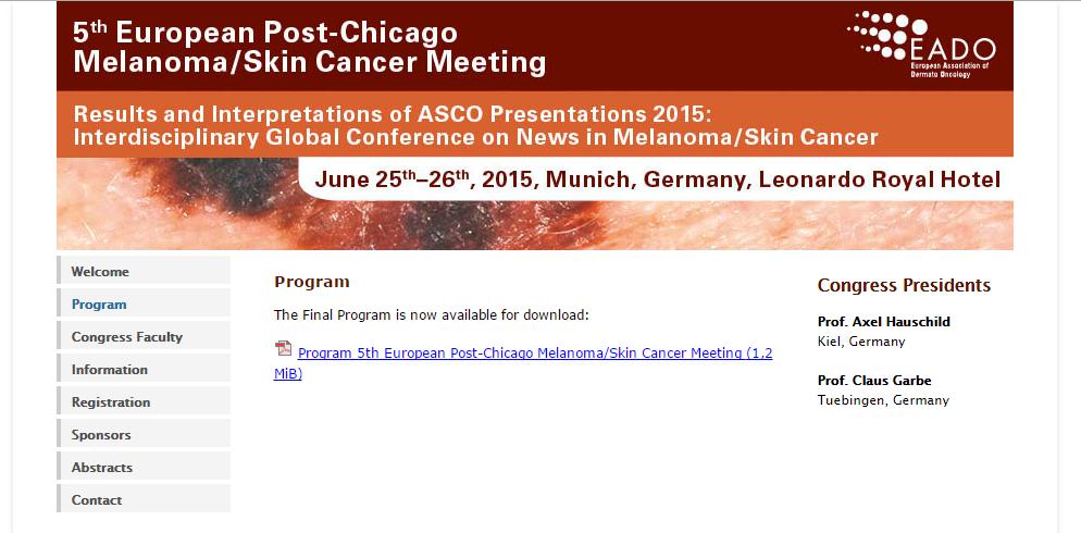 Hautarzt Dr. Okamoto in Wien informiert über ASCO-Meeting