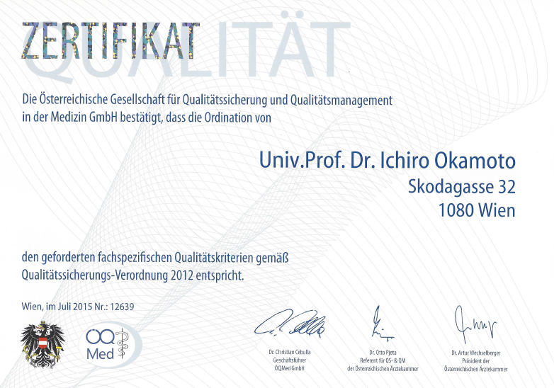 Ordination von Hautarzt Dr. Okamoto entspricht geforderten fachspezifischen Qualitätskriterien