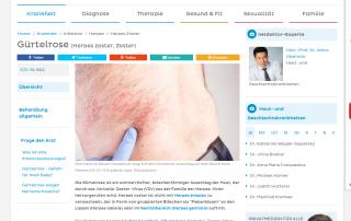 Hautarzt Dr. Okamoto in Wien ist Experte bei Netdoktor und informiert über Gürtelrose