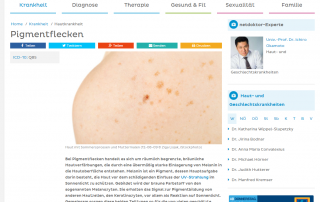 Hautarzt Dr. Okamoto ist Experte bei Netdoktor.at und informiert über Pigmentflecken